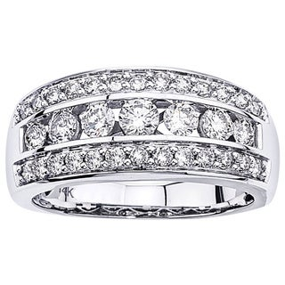 14k White Gold 1ct TDW Diamond Band by Ever One