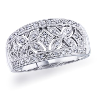 Sterling Silver 1/6ct TDW Diamond Vintage Band (H-I, I1-I2) by Ever One