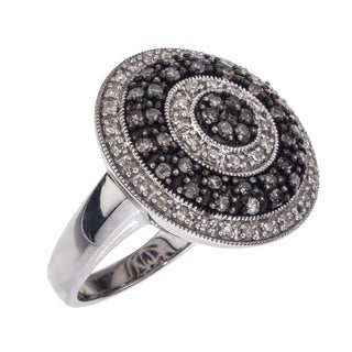 Sterling Silver 5/8ct TDW Diamond Cocktail Ring (H-I, I1-I2) by Ever One