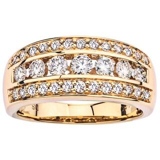 14k Yellow Gold 1ct TDW Diamond Band (I-J, I1-I2)