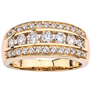 14k Yellow Gold 1ct TDW Diamond Band by Ever One
