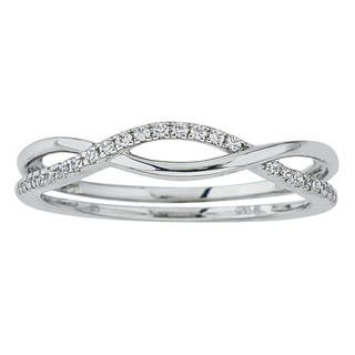 10k White Gold Diamond 1/10ct TDW Stackable Ring by Ever One|https://ak1.ostkcdn.com/images/products/12917409/P19672283.jpg?impolicy=medium