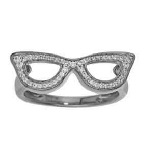 Sterling Silver 1/5ct TDW Sunglasses Diamond Ring (H-I, I2-I3) by Ever One