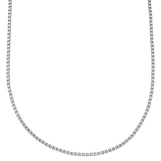 Stainless Steel 24-inch 2.5-millimeter Box Chain Necklace by Ever One