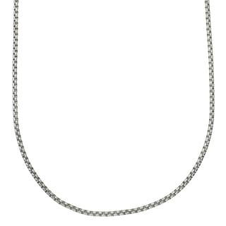Stainless Steel 24-inch 3.5-millimeter Rolo Chain Necklace by Ever One
