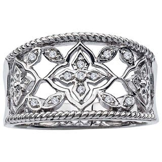 Sterling Silver Diamond Accent Band by Ever One|https://ak1.ostkcdn.com/images/products/12917430/P19672289.jpg?impolicy=medium