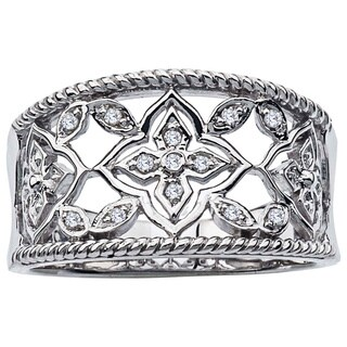 Sterling Silver Diamond Accent Band by Ever One
