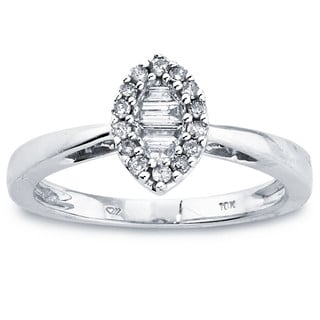 10k White Gold Diamond 1/4ct TDW Marquise-shaped Ring by Ever One