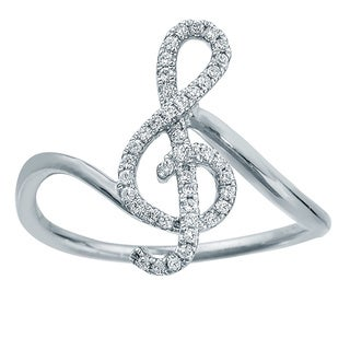 Sterling Silver 1/6ct TDW Treble Diamond Ring by Ever One (5 options available)