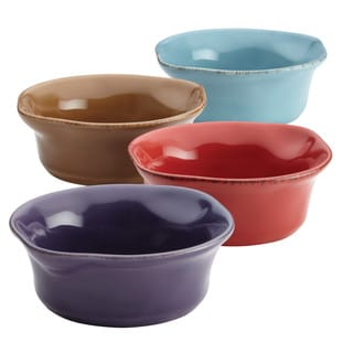 Rachael Ray Cucina Stoneware Dipping Cup Set, 4-Piece, Assorted