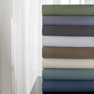 DelRay 600 Thread Count Hemstitch Solid Sheet Set