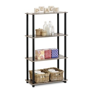 Furinno Multicolor MDF and Plastic 4-tier Multipurpose Shelf Display Rack
