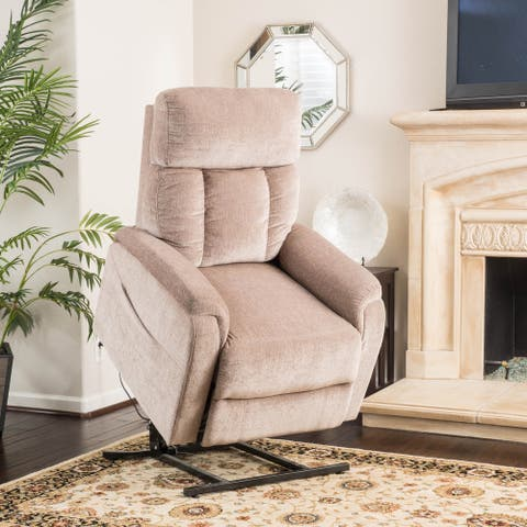 Volos Fabric Recliner Lift Club Chair by Christopher Knight Home