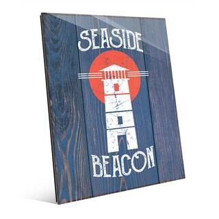 'Seaside Beacon' Multicolored Acryic Wall Art