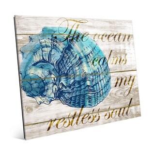 'The Ocean Calms My Restless Soul' Acrylic Wall Art