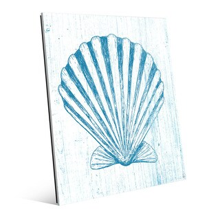 'Seashell on Blue' Acrylic Wall Art