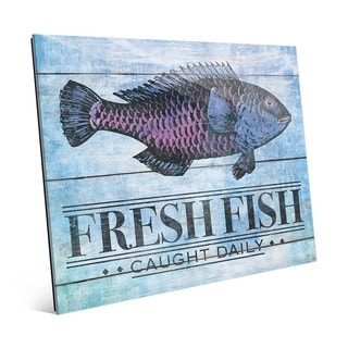 Rustic Fresh Fish Blue' Acrylic Wall Art