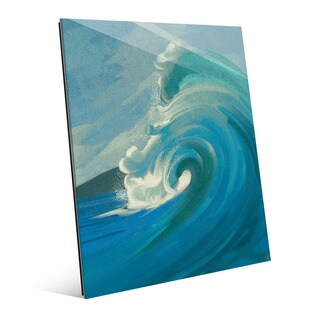 Crashing Wave Turquoise' Acrylic Wall Art