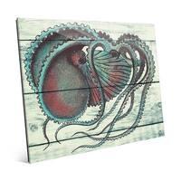 'Aquamarine Octopus' Acrylic Wall Art