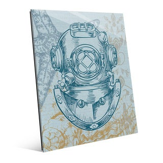 Diver's Helmet Turquoise Wall Art on Acrylic