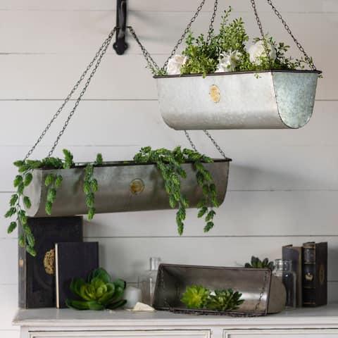 Metal Planters Outdoor Decor Find Great Garden Patio Deals