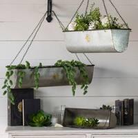 Multicolored Metal Hanging Plant Basket (Set of 3)