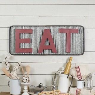 'Eat' Metal Sign