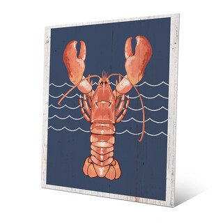 Lobster Life Coral Wall Art on Metal