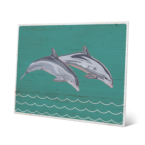 Shop Leaping Dolphins Metal Wall Art - On Sale - Free Shipping Today ...