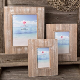Distressed Wood 3-piece Wide-border Frame Set