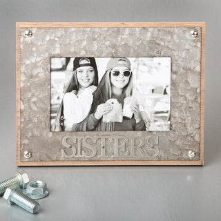 Sisters Metal and MDF Industrial-style 4 x 6-inch Standard Photo Size Picture Frame