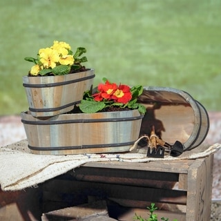 Brown Wood Planter