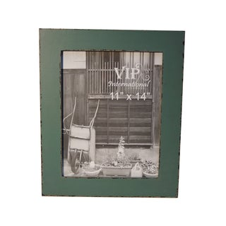 Blue MDF 11-inches x 14-inches Photo Size Distressed Finish Picture Frame