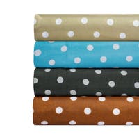 Dot Print Super Soft Microfiber Sheet Set