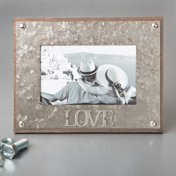 Love' Industrial-style Metal Picture Frame
