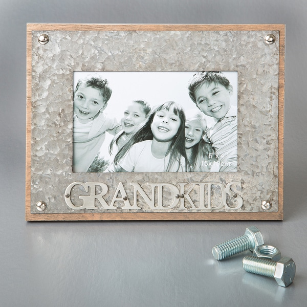 Shop \'Grandkids\' Metal 4-inch x 6-inch Industrial Style Frame - Free ...