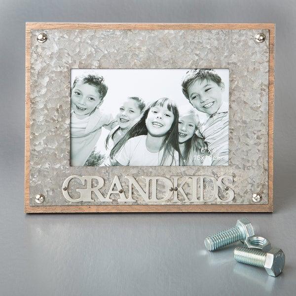 'Grandkids' Metal 4-inch x 6-inch Industrial Style Frame
