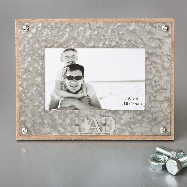 Dad Metal 4-inch x 6-inch Industrial-style Frame