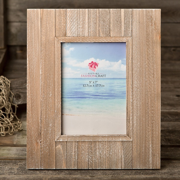 Distressed Wood 8-inch x 10-inch Wide Border Frame
