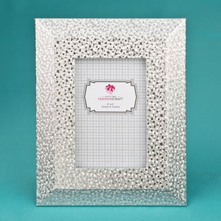 Silver Wide Border and Beveled Edge 4 x 6-inch Picture Frame