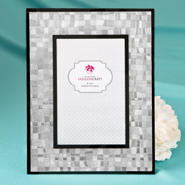 Silver 4 x 6-inch Mosaic Picture Frame