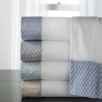 Adara 400 Thread Count Cotton Printed Hem Sheet Sets