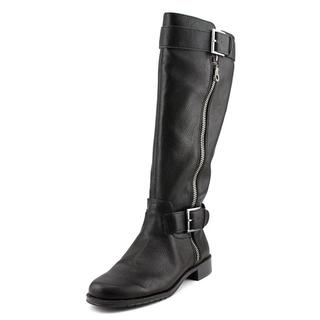 Aerosoles Women's Ride Around Black Faux Leather Boots
