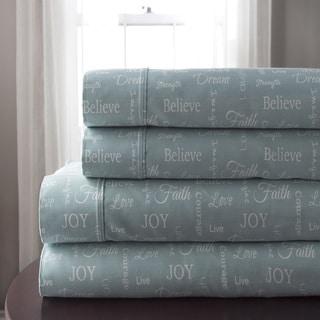 Inspirational 300 Thread Count 100% Cotton Print Sheet Set