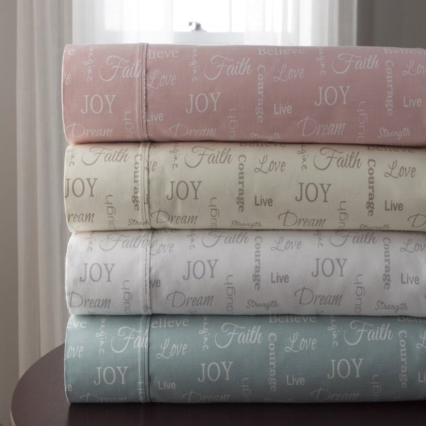 Inspirational 300 Thread Count 100% Cotton Print Sheet Set