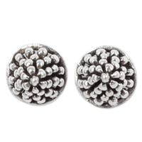 Handmade Sterling Silver 'Shining Berry' Earrings (Thailand)