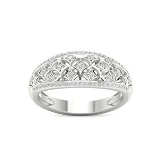 De Couer 10k White Gold 1/5ct TDW Diamond Fashion Ring (H-I,I2)