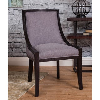 Somette Slate Grey Linen Multiuse Accent Chair