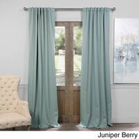 Exclusive Fabrics Thermal Insulated Solid Blackout 108-inch Curtain Panel Pair in Classic Taupe (As Is Item)