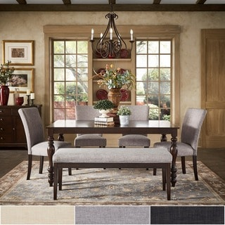 TRIBECCA HOME Pranzo Rectangular 66 Inch Extending Dining Table and Dining Set - Fluted Legs